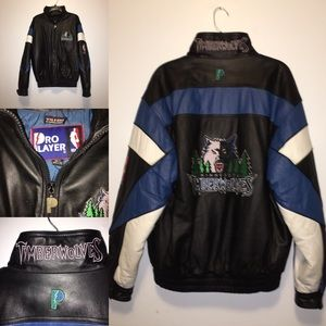 T-wolves Leather Jacket by Pro Player
